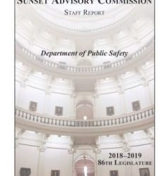Update on Sunset Commission Recommendations for Private Security Licensing