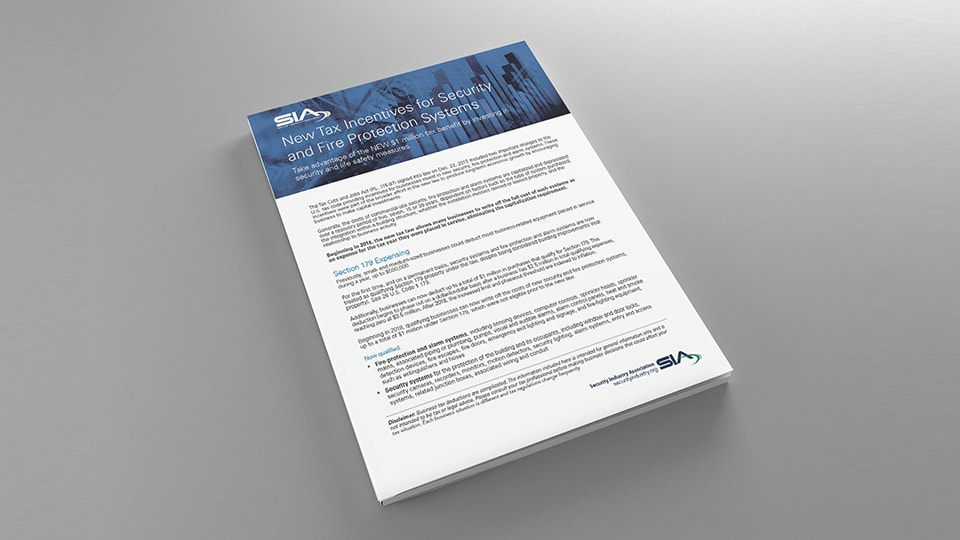 Guide to New Tax Incentives for Security and Fire Protection Systems
