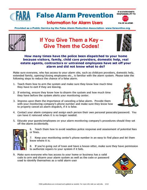 If You Give Them a Key – Give Them the Codes!