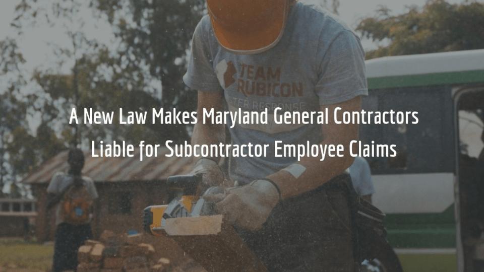 Maryland Senate Bill 853 takes effect 10/1/18.