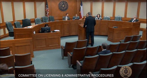 Texas House Committee Hearing on Electrical Licensing Held